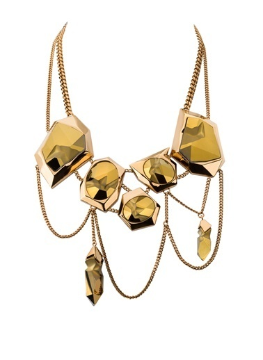 Swarovski Jean Paul Gaultier For Atelier Swarovski, Reverse Kolye Altın